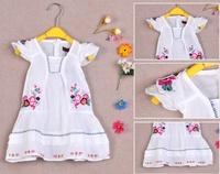 Single 2012 catimini female child 100% cotton embroidered one-piece dress