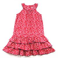 Summer catimini female child red small flower cake tank dress one-piece dress sleeveless dress