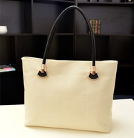 2013 women's handbag hand woven bag brief elegant fashion one shoulder bag casual handbag