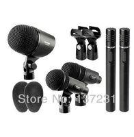 Original Hot Sale Takstar DMS-5P drum microphone set professional musical 5pcs mic jazz drum instrument microphone Free shipping