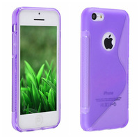 Free Shipping,  Soft TPU S Line Gel Plastic Case Cover For iPhone 5c