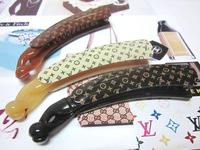 2013Newest Free shipping 12pcs/lot Classic Design 10.5cm Acrylic Hairclip Banana Hair Clip