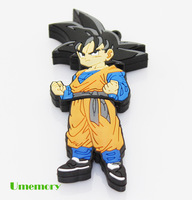 Retail real full capacity 2GB 4GB 8GB 16GB 32GB Cartoon cute Goku usb flash drive pen drive memory stick Drop Free shipping