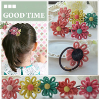 50PCS Alot Cutely Children Double Snowflake Flower Hair Band /Hair Ponytail/ Hair Accessories for Children