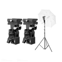 2pcs Flash Hot Shoe Umbrella Mount Holder Swivel for Light Stand Flash Bracket B