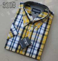 Male polo 100% cotton short-sleeve shirt fashionable casual thin shirt plus size shirt