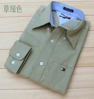 China 100% cotton male plus size shirt business casual long-sleeve men's clothing shirt