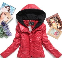 2013 Korean version of the new autumn warmth washed pu leather jacket coat women long sleeve cotton down