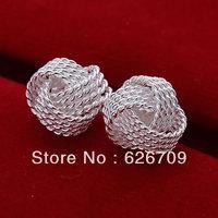 JE013 free shipping lowest price wholesale 925 solid Silver earring, Fashion  women  charm Jewelry earring , Tennis Earrings