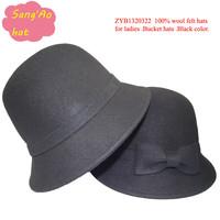 wholesale fashion black fedora hats browler100 wool felt for dance wear in Winter ,fall ,spring ,wedding ,topee hat.festival cap