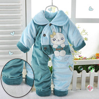 Baby 2013 100% thickening cotton one-piece romper new baby autumn and winter one piece romper cotton-padded romper