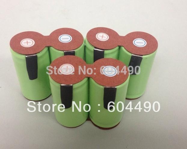 Livraison gratuite à la fédération russe 10pcs/lot nicd sc 2.4v 2500 mah. éclairage de secours packs batterie utiliser pour perceuse