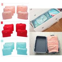 wholesale 100sets(5pcs Set) Clothes Tidy Organizer Pouch Travel Luggage Storage Bag Suitcase Case free shipping