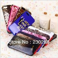 free shipping 10pcs/lot I lock your love Leopard Python texture JustCavalli Soft TPU case cover skin for iphone 5 5s iphone5