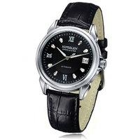 [Free Shipping] Men's genuine leather strap waterproof mechanical watch