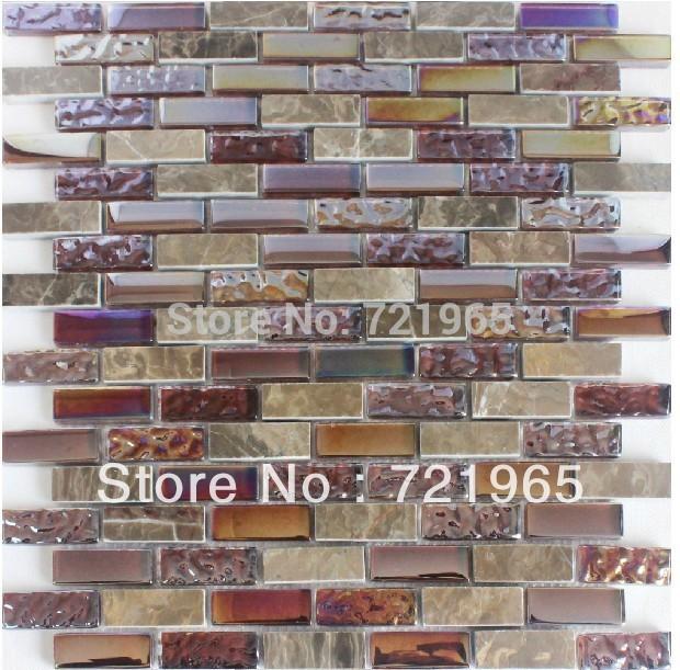glass stone mosaic kitchen backsplash tiles sgmt142 purple glass