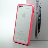 Free shipping thin crystal Bicolor Phone Case iPhone5G/5s