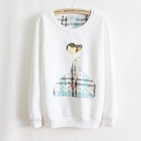women's sweatshirt fleece Women Hoodies Sweatshirts Women Fleece Long Sleeve coat multicolor o-neck sweatshirt fleece