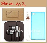Free shipping xiaomi M3 100% Original  phone Soft protective sleeve +Mobile phone screen protector+Piston headphones+Lanyard  m3