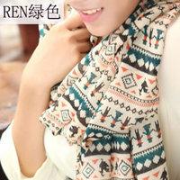 hot women winter scarf fashion style silk scarf polka velvet scarf chiffon Bohemia Scarf free shipping (SC024)