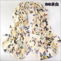 hot women winter scarf fashion style silk scarf polka velvet scarf chiffon Bohemia Scarf free shipping (SC036)