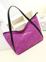 Big 2013 casual bags female shoulder bag scrub velvet brief handbag large bag big capacity shopping bag