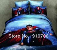 Hot New Beautiful 100% Cotton 4pc Doona Duvet QUILT Cover Set bedding sets Full Queen King size 4pcs flower Superman Returns