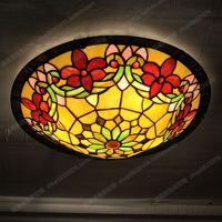 16 inches European Rabbit flower children's room bedroom bedroom ceiling glass costume jewelery Tiffany lamps balcony