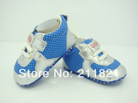 SanFu--2013 NWT hot baby boy and gilr first walker shoes sneaker shoes SILVER BLUE home shoes GU036 FREE SHIPPING