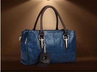 The new 2014 first layer leather ladies bags leather handbag shoulder aslant package