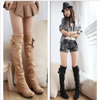female spring and autumn single boots autumn boots high-leg elevator winter scrub