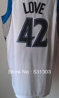 Free Shipping,#42 Kevin Love Basketball jersey,Size 44-56