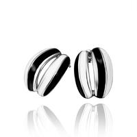 Wholesale New Style Fashion Jewelry Creative Black & White Stripe Platinum Plated Stud Earrings Cute Women Chic Earring E635