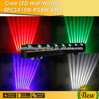 Free Shipping 8x10W 4 in 1 LED Bar Moving Beam