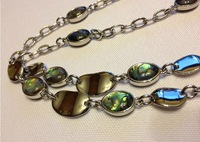"NECKLACE - AURA - GENUINE ABALONE - 38-41"" LONG - NWT - RV $94"