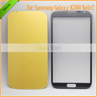 Outer Screen Touch Glass Lens Grey Color Replacement for Samsung N7100 Note II LCD Screen Front Glass +Free Tools Adhesive