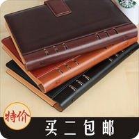 High quality aoid undesirable binder leather loose-leaf a5b5 hasp notebook notepad commercial white collar this