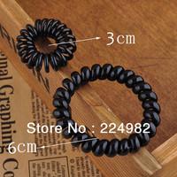 20 pcs Black Smooth Hair Ring,Good Quality Hair Holder,Spiral Hair Band For Girls / Lady,3cm / 6cm