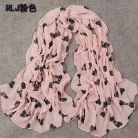 hot women winter scarf fashion style silk scarf polka velvet scarf chiffon Bohemia Scarf free shipping (SC075)