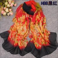 hot women winter scarf fashion style silk scarf polka velvet scarf chiffon Bohemia Scarf free shipping (SC160)
