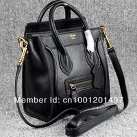 free shipping classic and fashion handbag top quality 100%  imported calfskin Nano Luggage  famous design monocolor