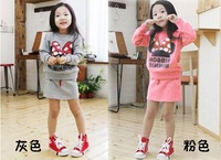 Free shipping Autumn children's clothing female child autumn 2013 winter twinset child set sweatshirt sportswear  wholesales