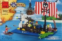 Assembling building blocks pirate series 302 pirate diamondmax gift