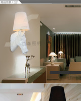 Modern personality living room hallway hallway staircase lighting bedroom lamp bedside lamp American Resin Horsehead