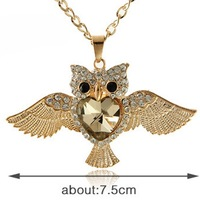 Upscale high-end jewelry opal owl sweater chain necklace fashion hot Eagles Long necklace, clothing ornaments!