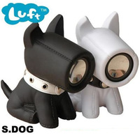 T . unique black and white dog dog speaker audio semk-luft