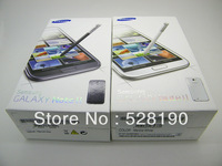 genuine EU/US Version charger + earphone +micro cable For samsung galaxy note 2 n7100 Package box with original accessories