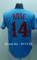Free Shipping #14 Pete Rose Men's Baseball Jersey,Embroidery and Sewing Logos,size M--3XL,Accpet Mix Order