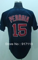 Free Shipping #15 Dustin Pedroia Men's Baseball Jersey,Embroidery and Sewing Logos,size M--3XL,Accpet Mix Order