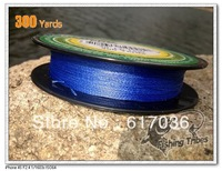 Wholesale 300yd(250m)   PE Weave  Line blue  braided fishing line 8LB---60LB  dyneema Free transportation